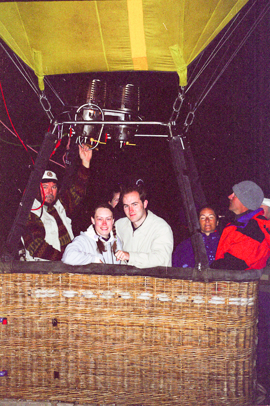 Newly weds Marie and Ali Knock on honeymoon in a hot air balloon