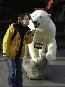 Marie with Polar Bear