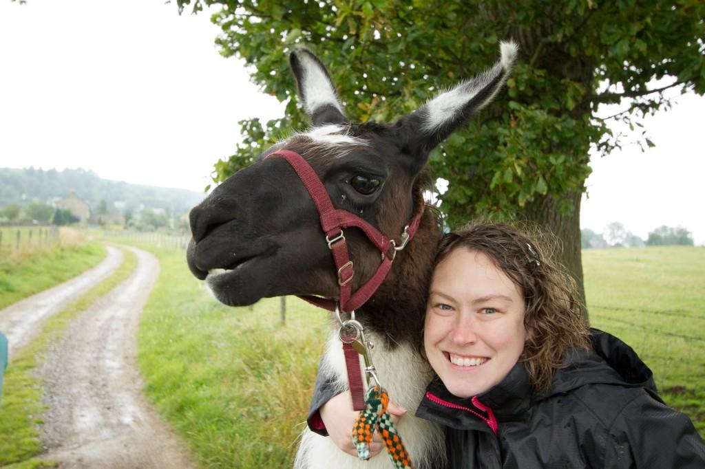 Marie and llama